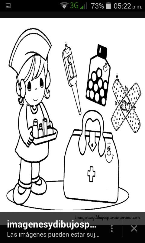 Pin de leyla roma en hospital   Pinterest   Enfermera para colorear ...