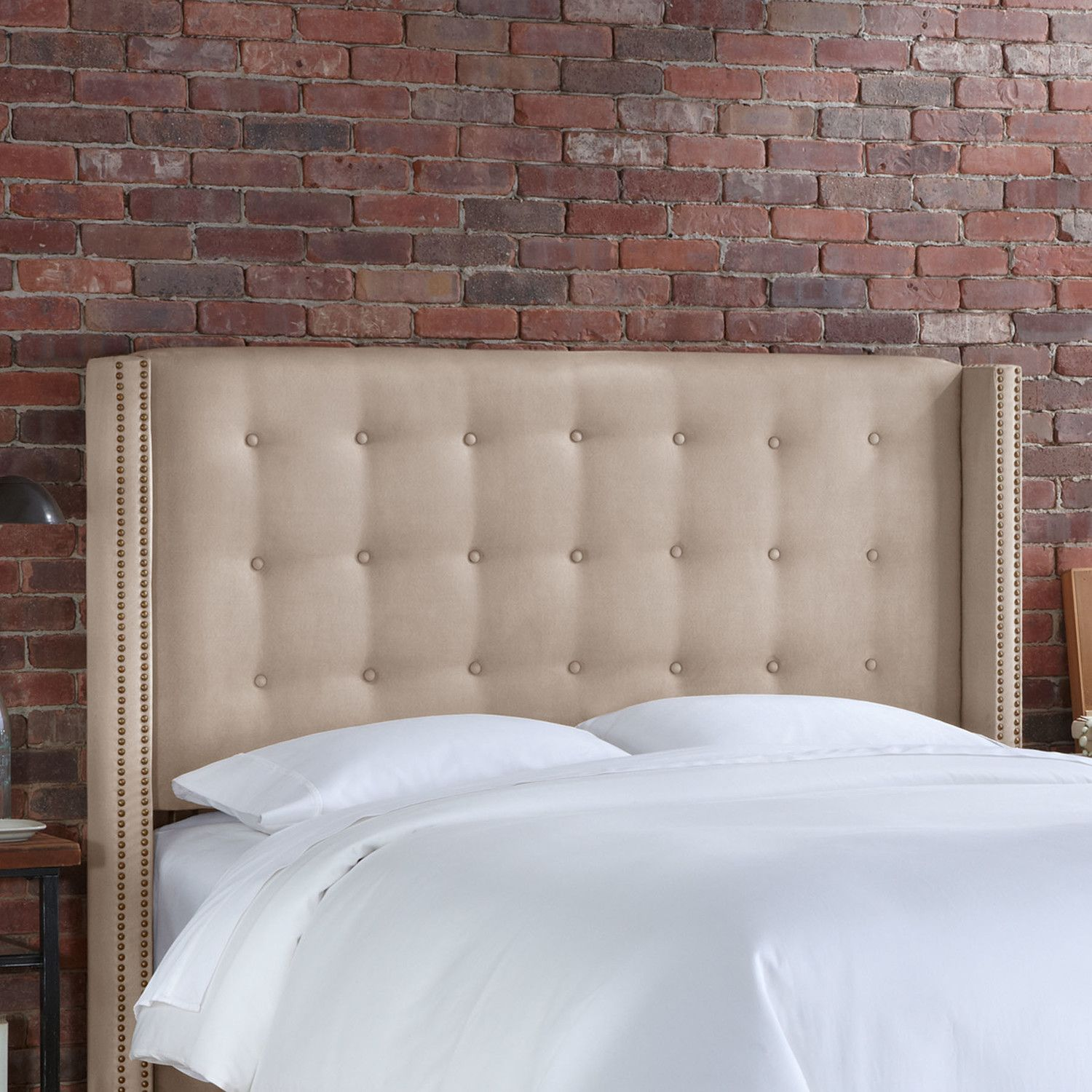 Skyline Furniture Nail Button Tufted Upholstered Headboard ...