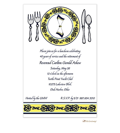 Dining Place Setting Invitations  Rehearsal Dinner Invitations