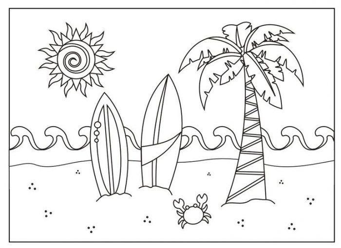 Dibujos Del Verano Para Colorear E Imprimir Dibujos De Verano
