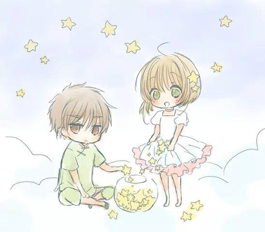 Chibi Sakura y Shaoran | ☆ ✿ Sakura CC ✿ ☆ | Pinterest | Shaoran ...