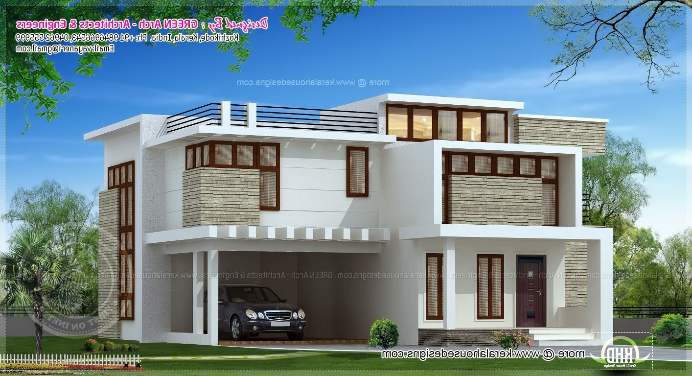 South Indian House Front Elevation Designs For Double Floor House Outer Design Duplex House Design Modern House Floor Plans