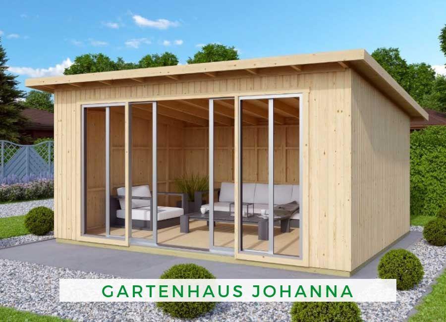 Gartenhaus Johanna mit Schiebetür Gartenhaus holz