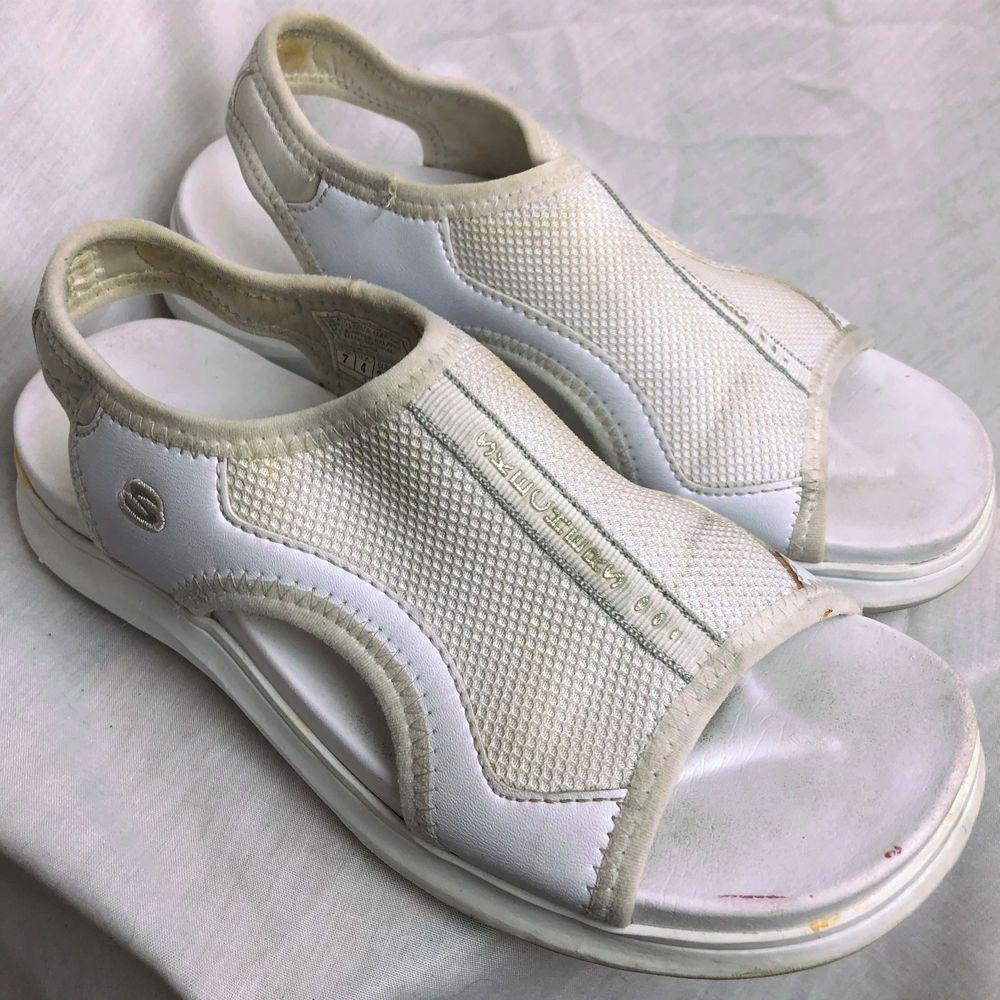 582b50e43 Skechers Critics Cinema Womens Sandals Size 7 White Shoes Summer  Skechers   SANDALS