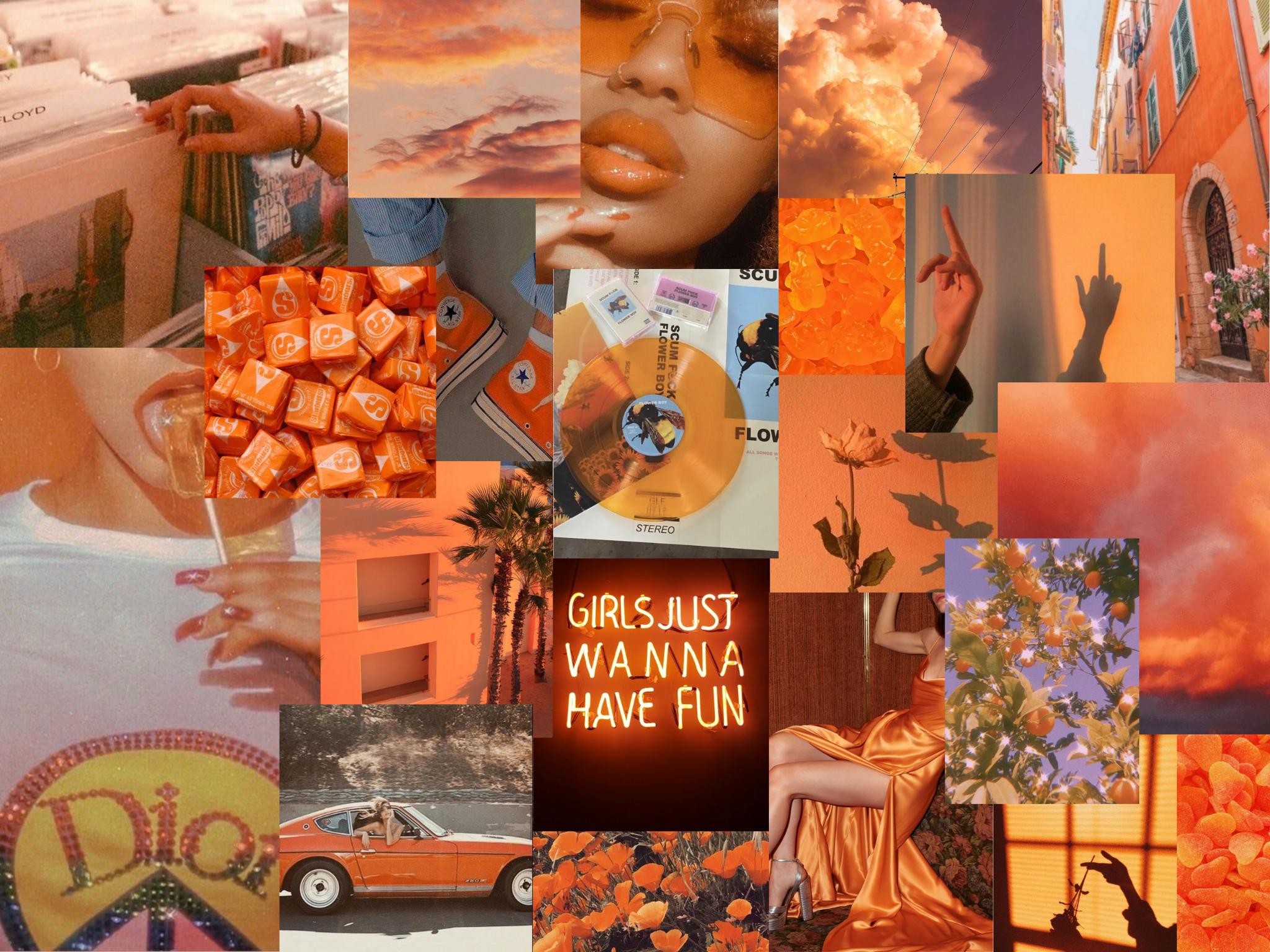 Aesthetic Ipad Wallpaper Orange Orange Aesthetic Wallpaper Ipad Wallpaper