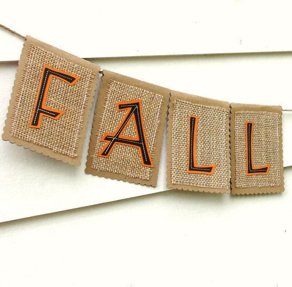 Rustic FALL Banner Autumn Garland Decoration by LazyCaterpillar, $16.00