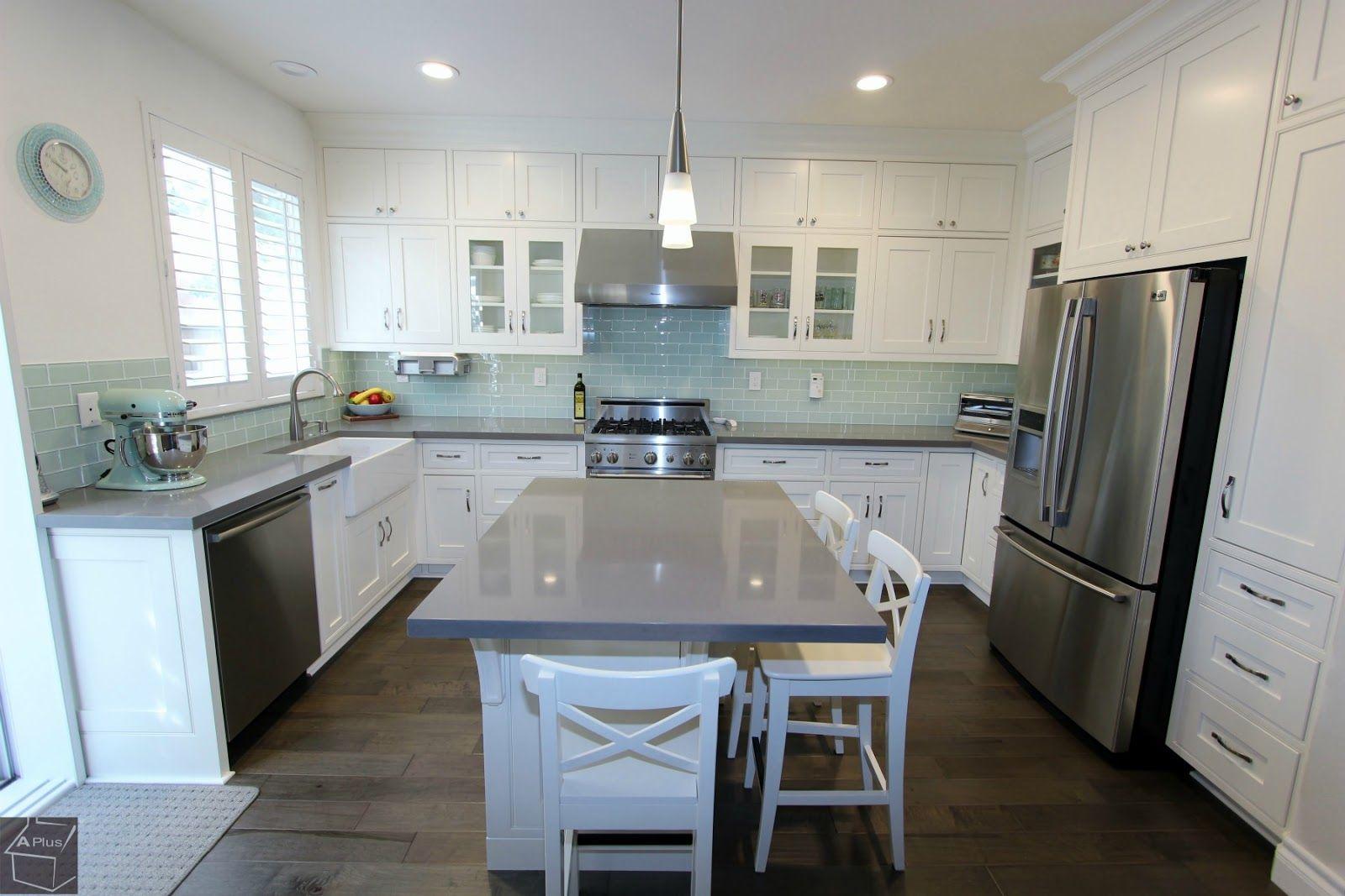 Irvine Complete Kitchen Remodel With Brand New Custom Cabinets Kitchen Remodel Kitchen Design Contemporary Kitchen