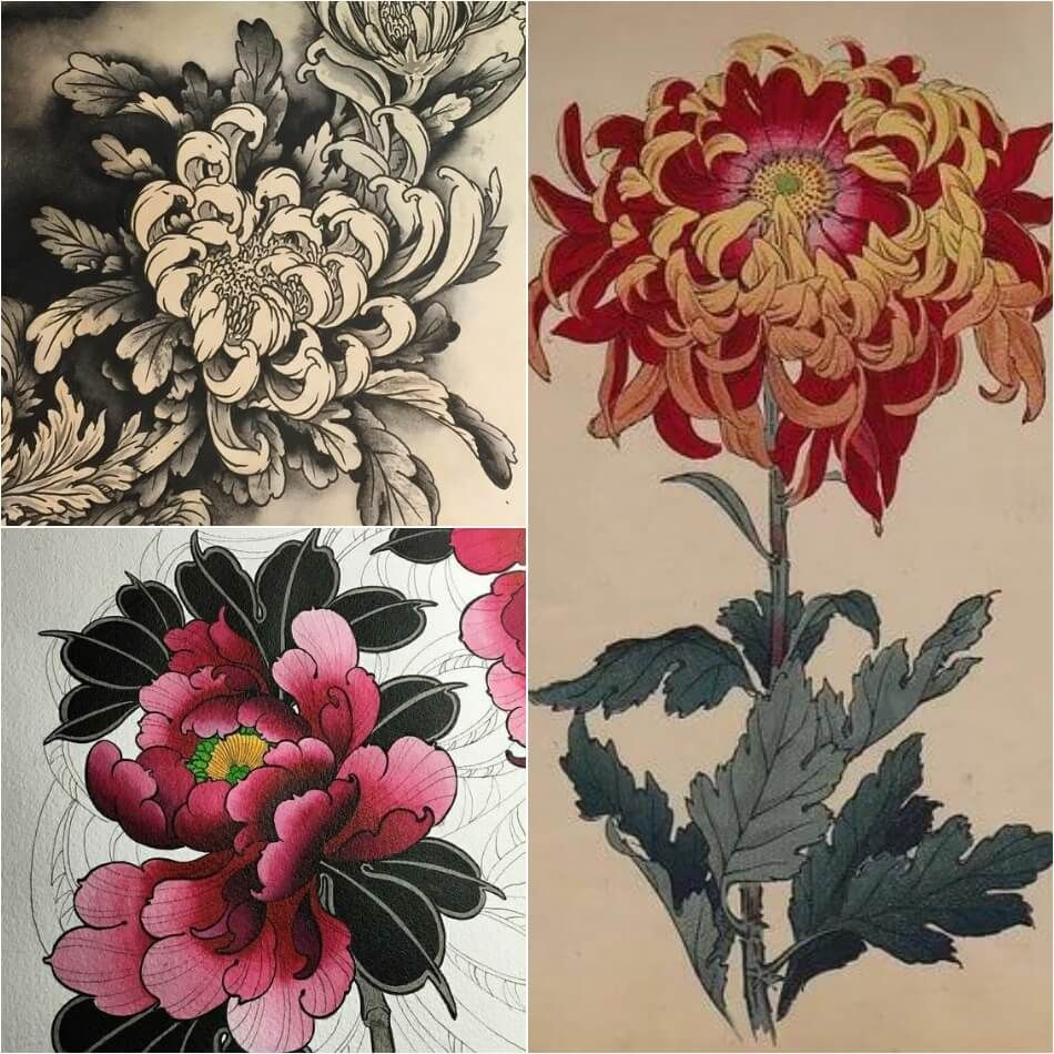 Di moda тату японский стиль эскиз