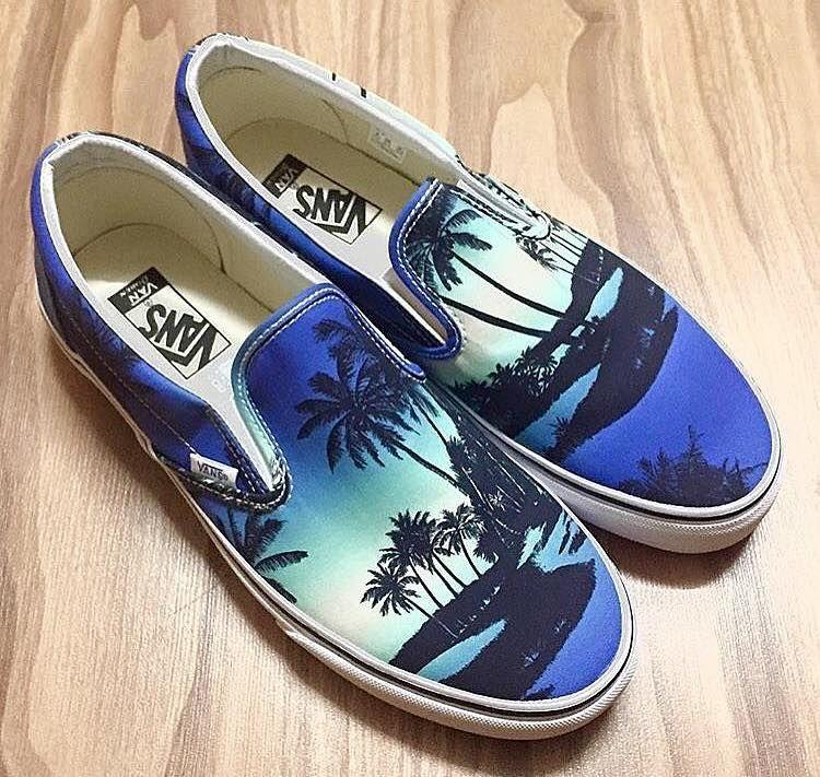 Hoffman Tropicals on Vans Slip Ons