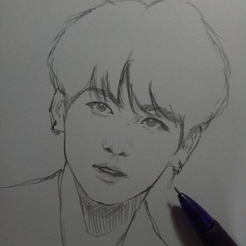 Bts Rm Easy How To Draw Not Today 2019 Bts drawings