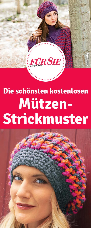 Die schönsten kostenlosen Mützen-Strickmuster - Anleitungen zum ...