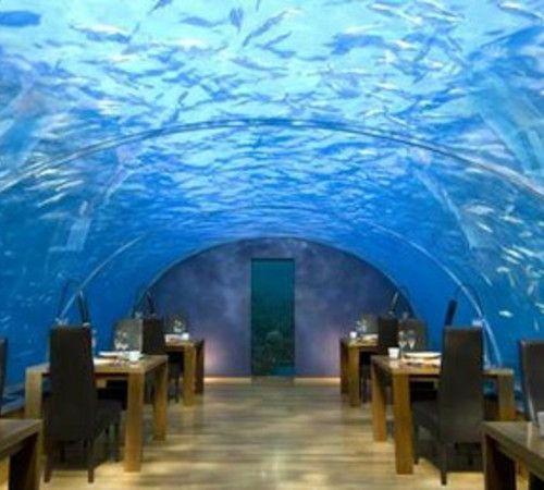 Underwater restaurant- Maldives