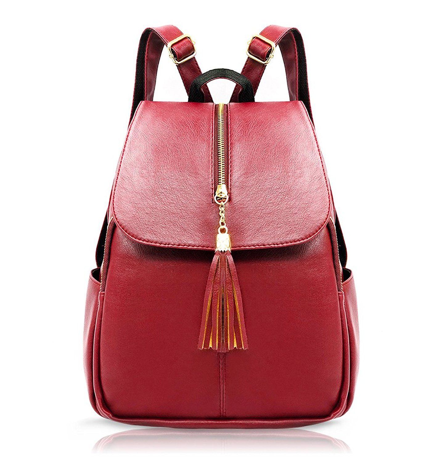 42e8d062be EssFeel Stylish Leather Backpack School Travel Daypack Casual Style Backpack  Knapsack for Women Girl -- Check out the image by visiting the link.