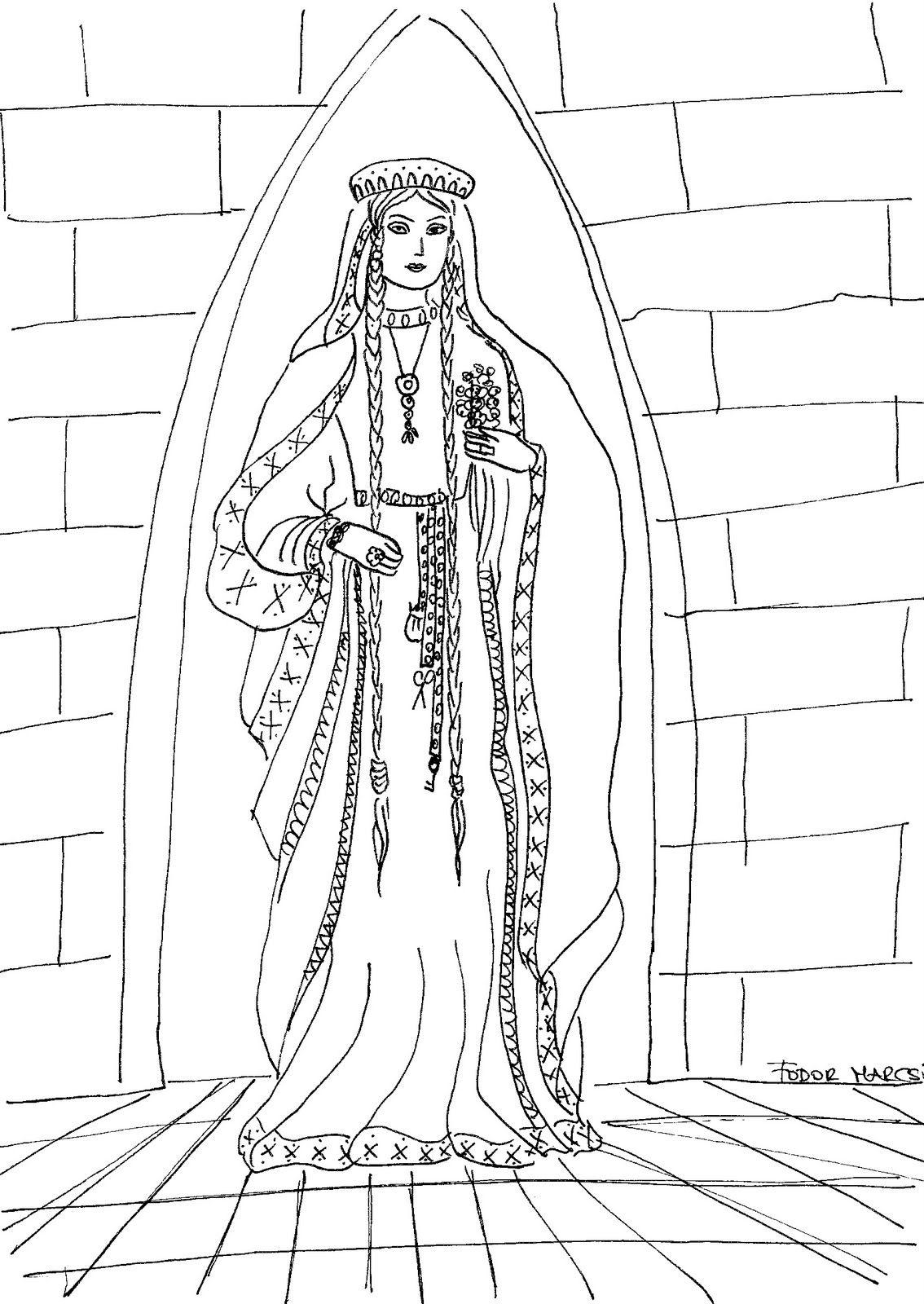 Medieval Princess Fodor Jpg 1 134 1 600 Pixels Princess Coloring