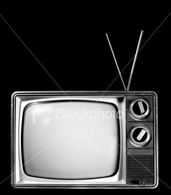 an old black and white television with rabbit ears | Baby boomers memories,  My childhood memories, Childhood memories