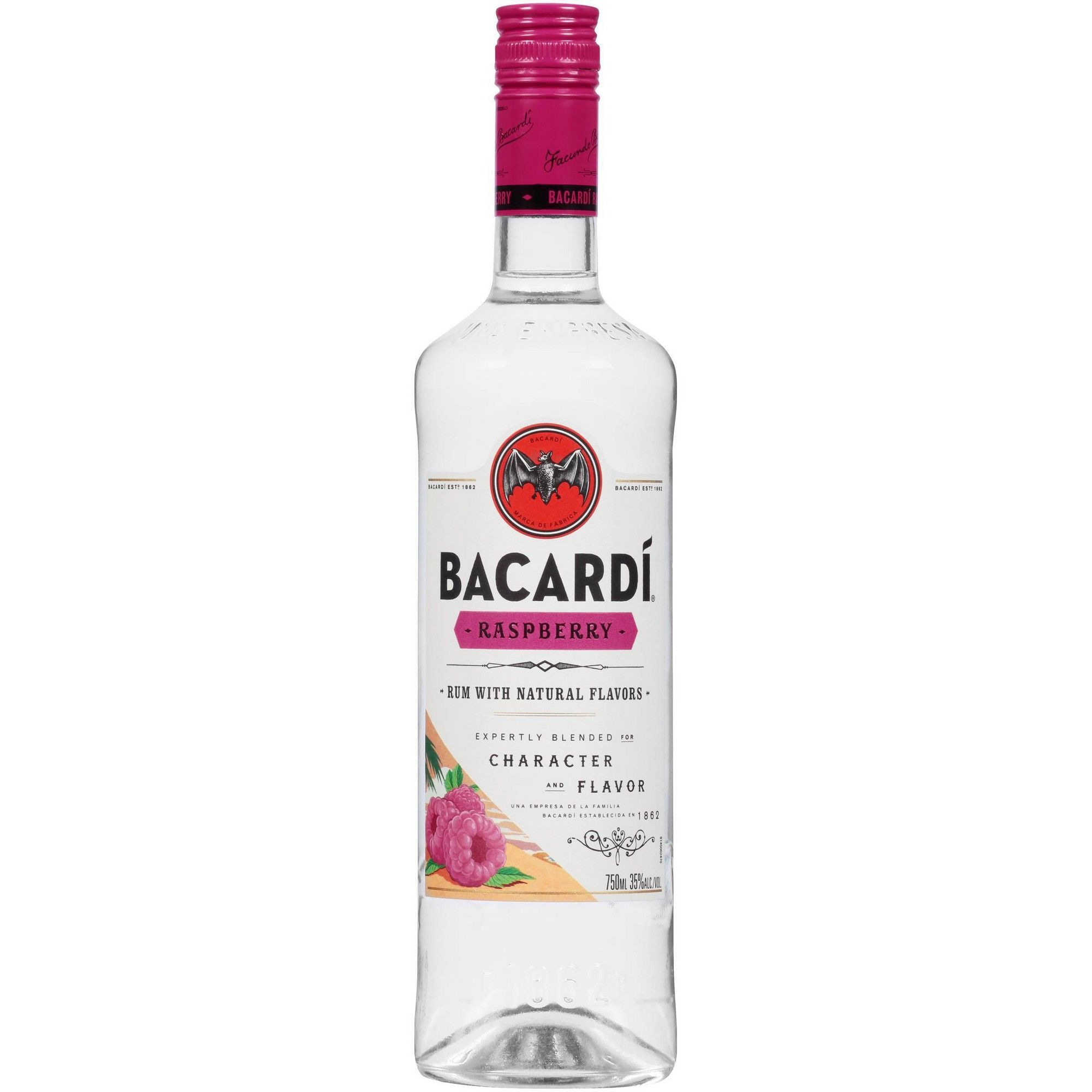 Bacardi Raspberry Rum 750ml Bottle Bottle Rum
