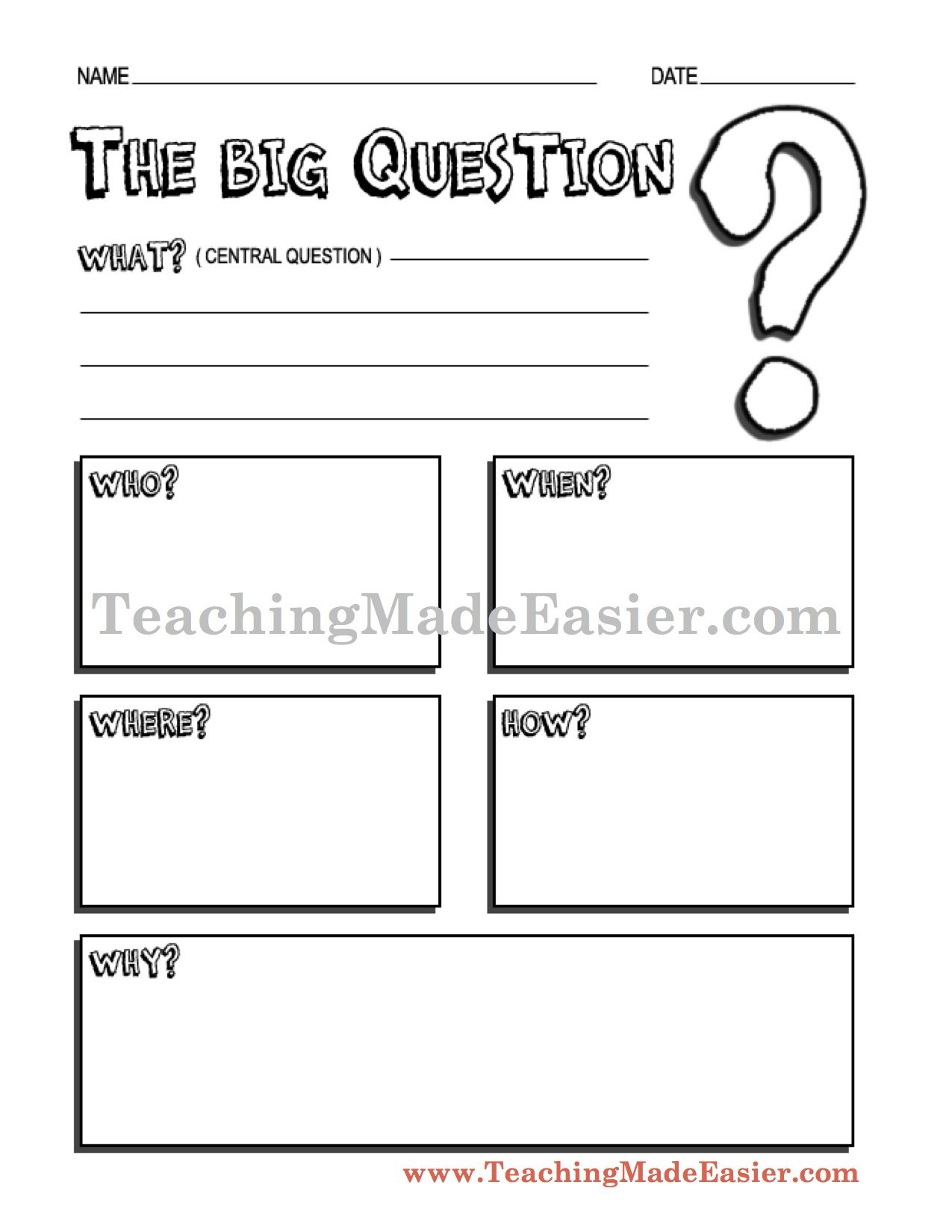 worksheet Lorax Worksheet 3 easy steps step 1 enter list of questions or story elements teachingmadeeasier com masters click graphic organizers 2 general