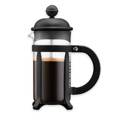 Bodum Java 12 Oz French Press Coffee Maker In Black French Press Coffee French Press Coffee Maker Coffee And Tea Makers