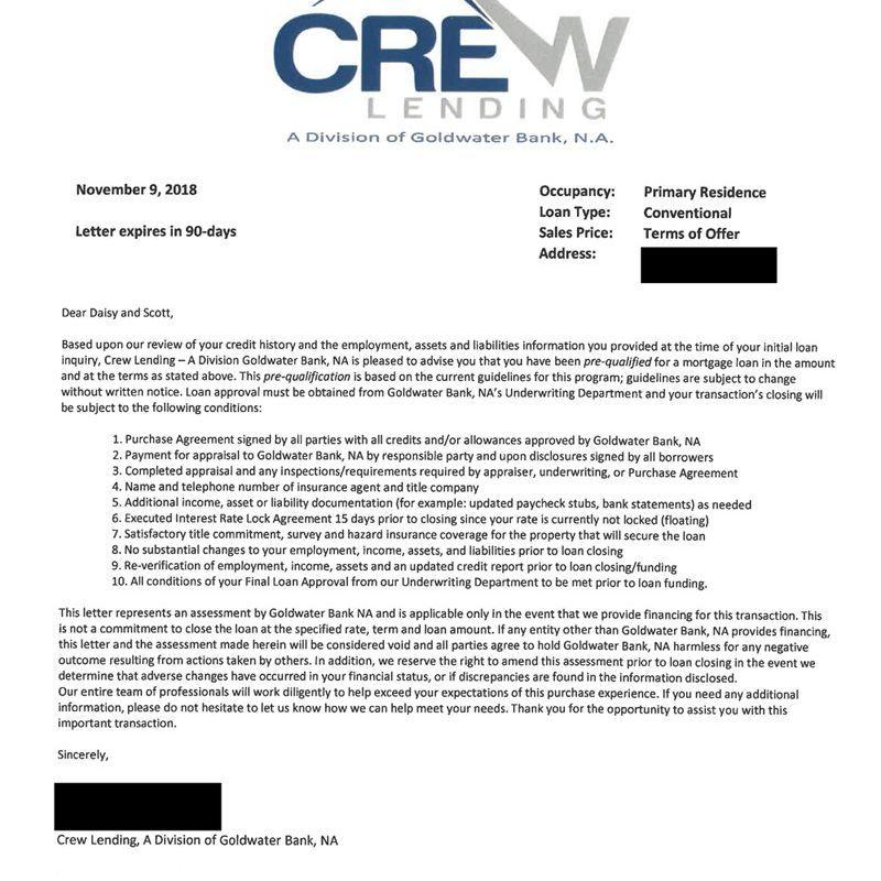 Perfect Prequalification Letter Sample And Description Di 2020