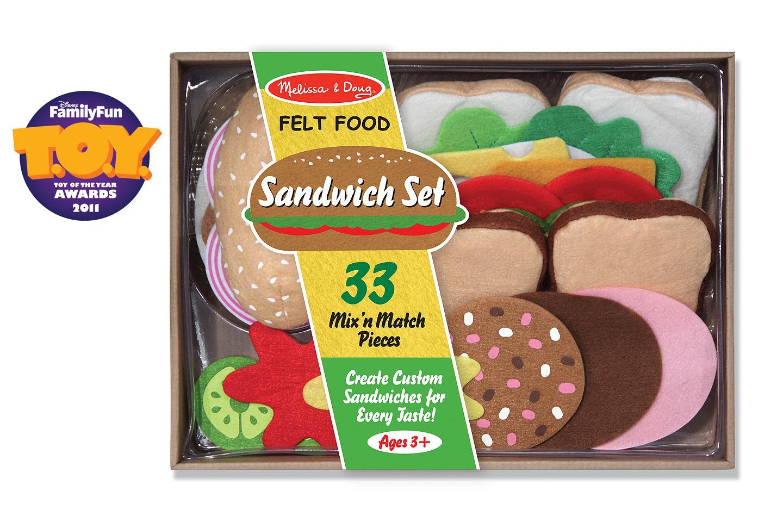 Melissa doug felt food sandwich play food set 33pc
