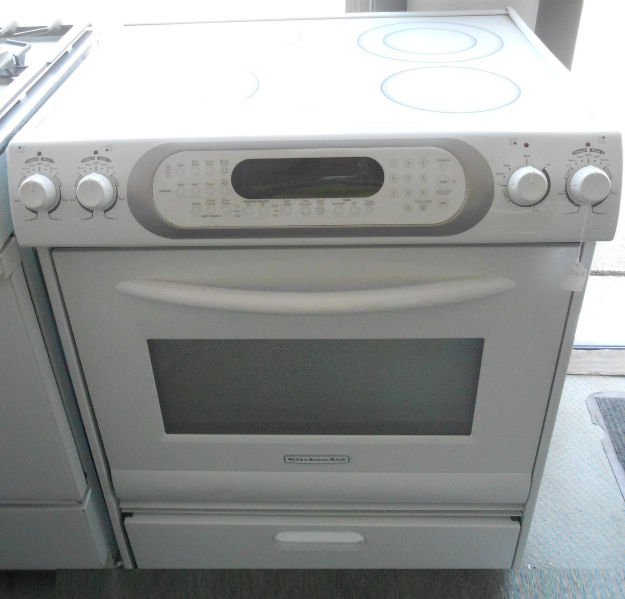 Appliance City   KITCHENAID ELECTRIC RANGE GLASS TOP WHITE , $875.00  (http://