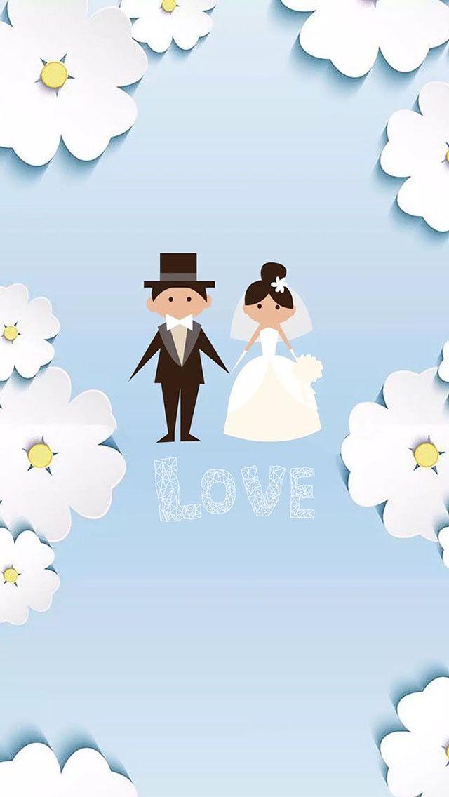 Pin By Amira On Liliane Wallpaper Wedding Wallpaper Iphone Love Cartoon Wedding Invitations