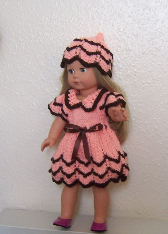 Pixie Peach, Dolls Clothes, American Girl PDF knitting pattern for ...
