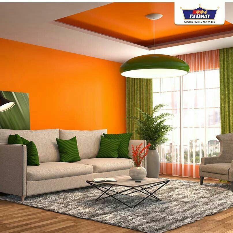 Orange & green | Living room ideas-Family room ideas in 2019 ...