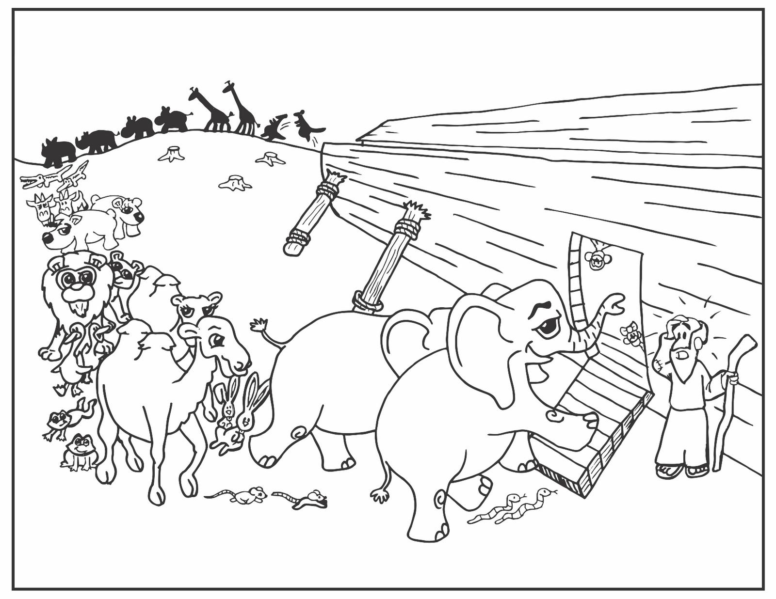 Noah ark coloring pages - coloringtop.com | Creche activities ...