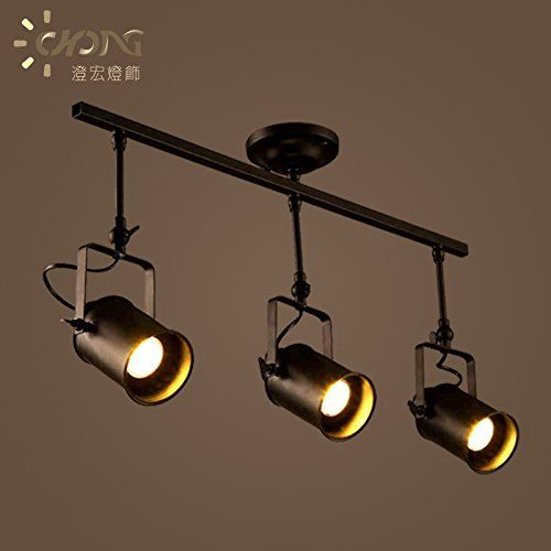Leihongthebox Track Lamp Industrial Creative Personality Arts Pendant Ceiling Lighting Personality Led L Industrial Ceiling Lights Track Lighting Led Wall Lamp