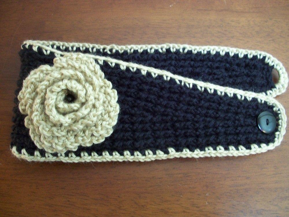PDF Crochet PATTERN: Headband/Ear Warmer with Lettuce by R0SEDEW ...