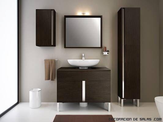 Mueble lavabo moderno yuga Pinterest Lavabo, Moderno y Baños - muebles para baos pequeos