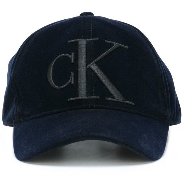 f08c97453a7 Calvin Klein Jeans Embroidered Baseball Cap ( 61) ❤ liked on Polyvore  featuring accessories