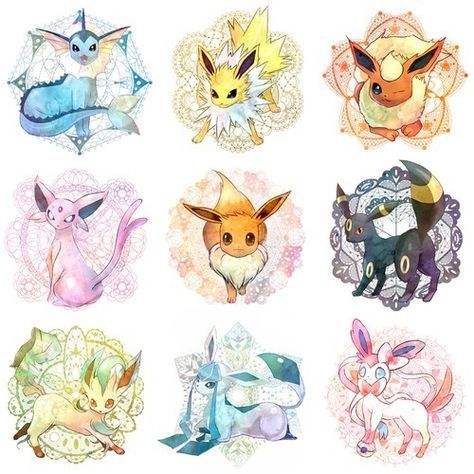 Evolution Evoli Dessin Pokemon Dessins Mignons