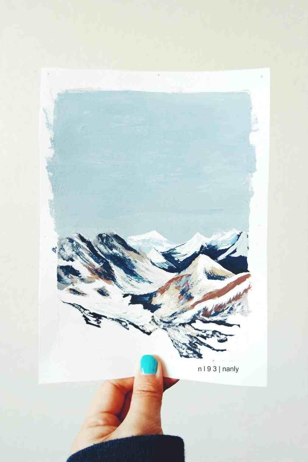 winter drawing ideas tumblr | watercolor | Winter drawings ...