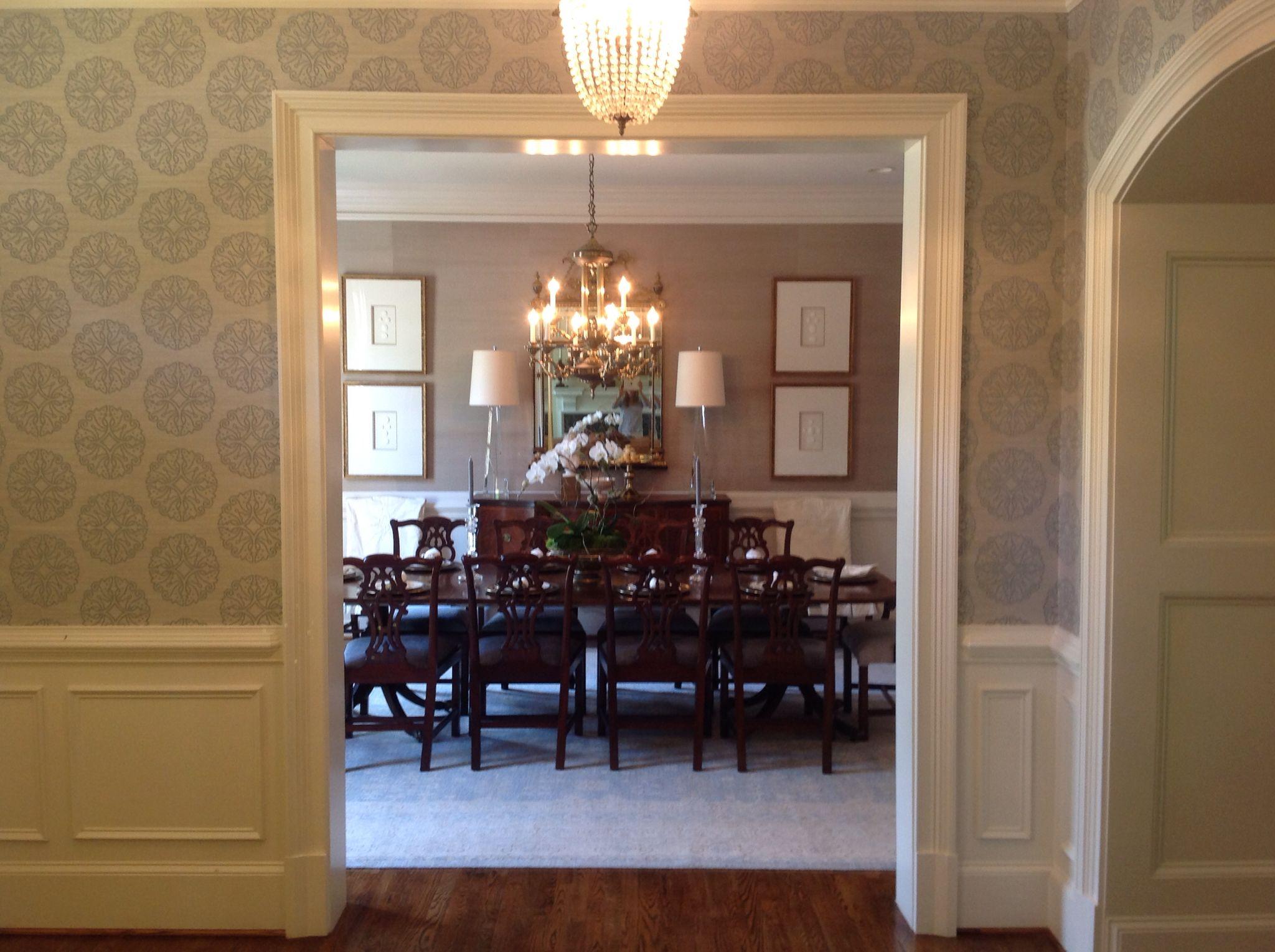 Formal traditional dining room, intaglios, crystal