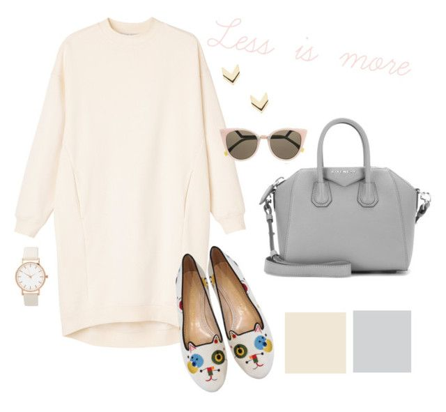 """""""/LESS is MORE/"""" by pwdee on Polyvore featuring Monki, Charlotte Olympia, Givenchy, Fendi, Leslie Danzis, casual and simple"""