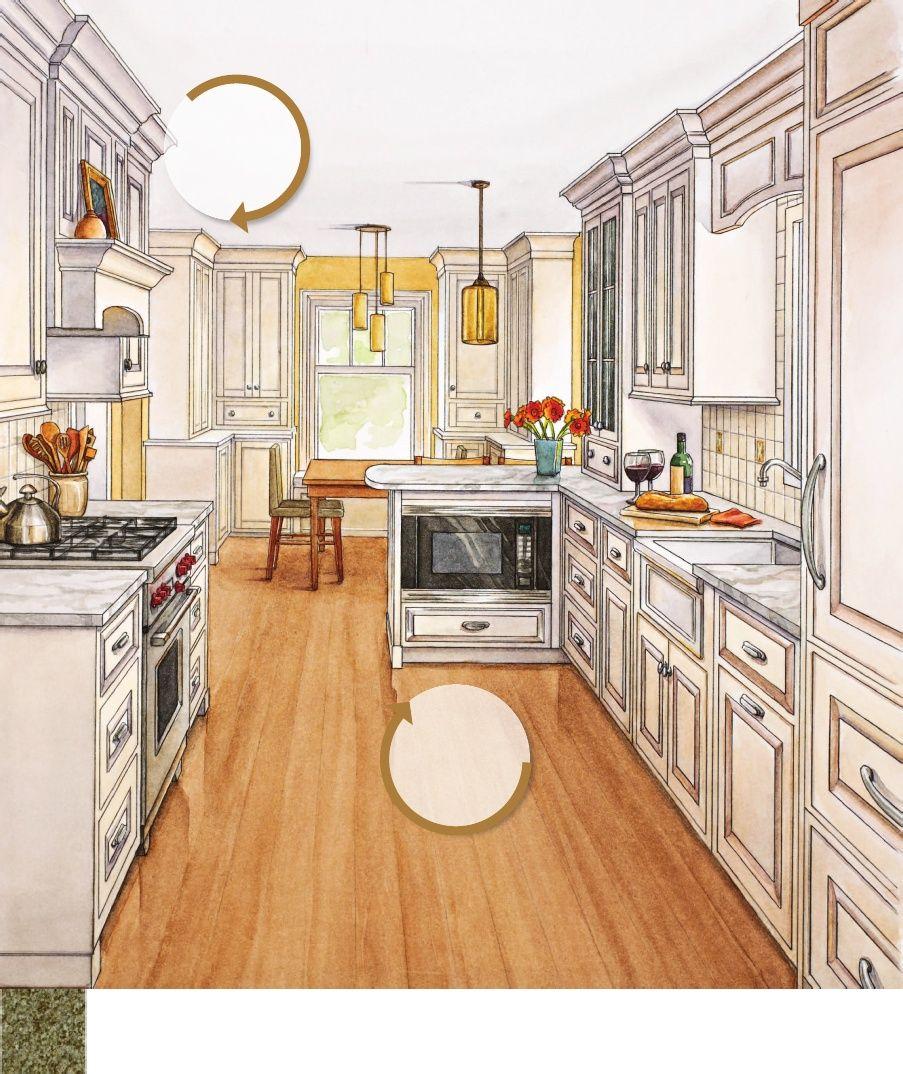 """Room to Breathe"" Kitchen and Bath Ideas 14x9 Kitchen"