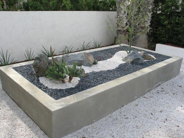 Steingarten im Hochbeet aus Beton anlegen Garden Pinterest