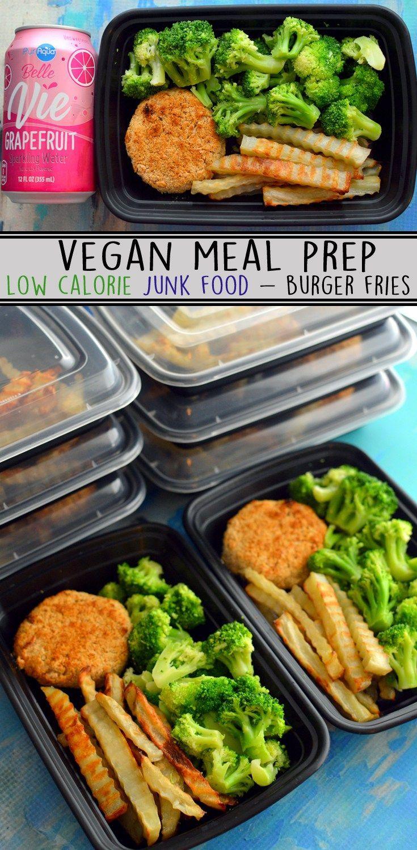 Vegan Meal Prep Low Calorie Health Junk Food Easy