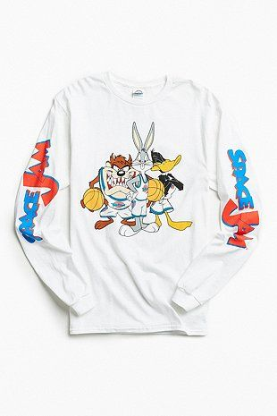 Space Jam Long Sleeve T Shirt Mens Cotton T Shirts Long Sleeve Shirt Men Urban Outfitters Men