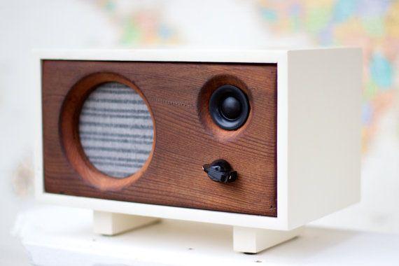 Vente haut parleur de bureau en bois récupéré le par salvageaudio