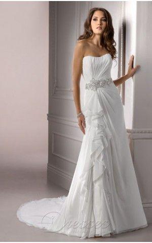 popular white aline strapless corset closure floorlength