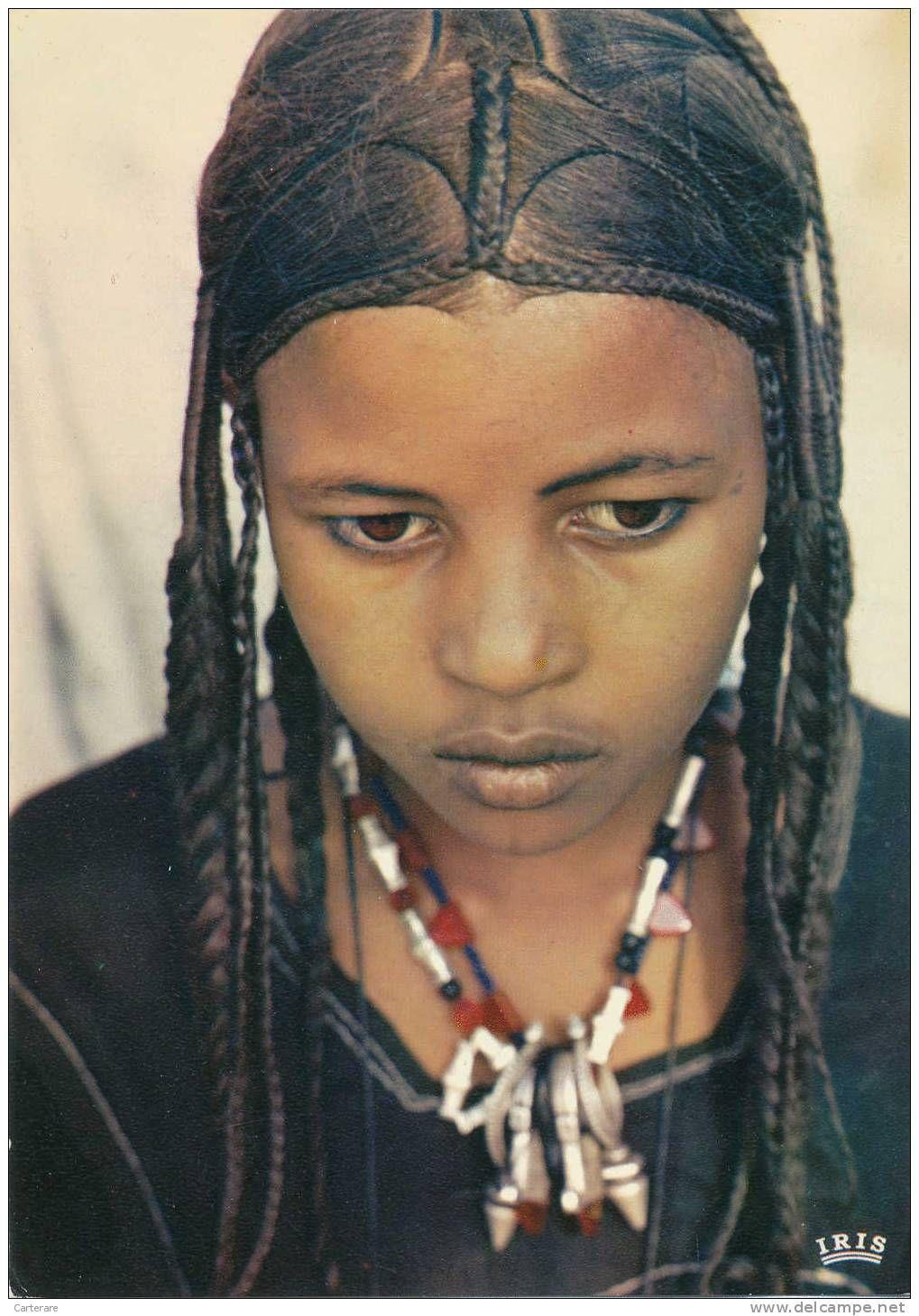 tuareg girl. hair braiding