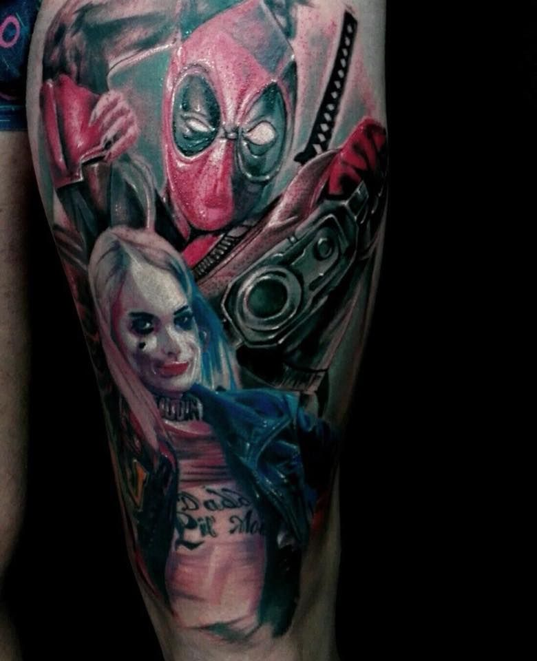 Suicide squad tattoo by andres limited availability at new for Suicide squad face tattoo