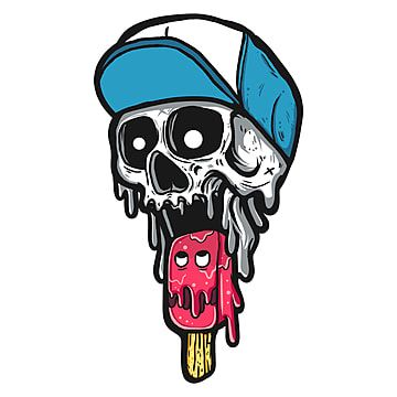 Skull Eat Ice Cream, Psd File, Psd, Cartoon PNG Transparent Clipart Image and PSD File for Free Download