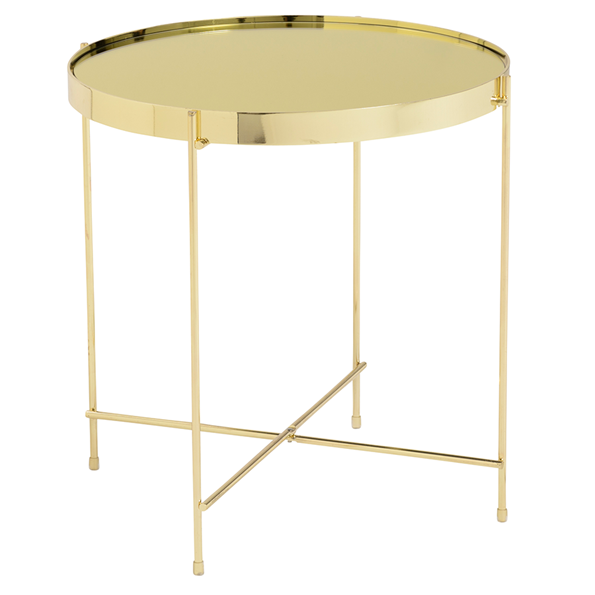 Trinity Side Table Gold Round Side Table Modern Side Table