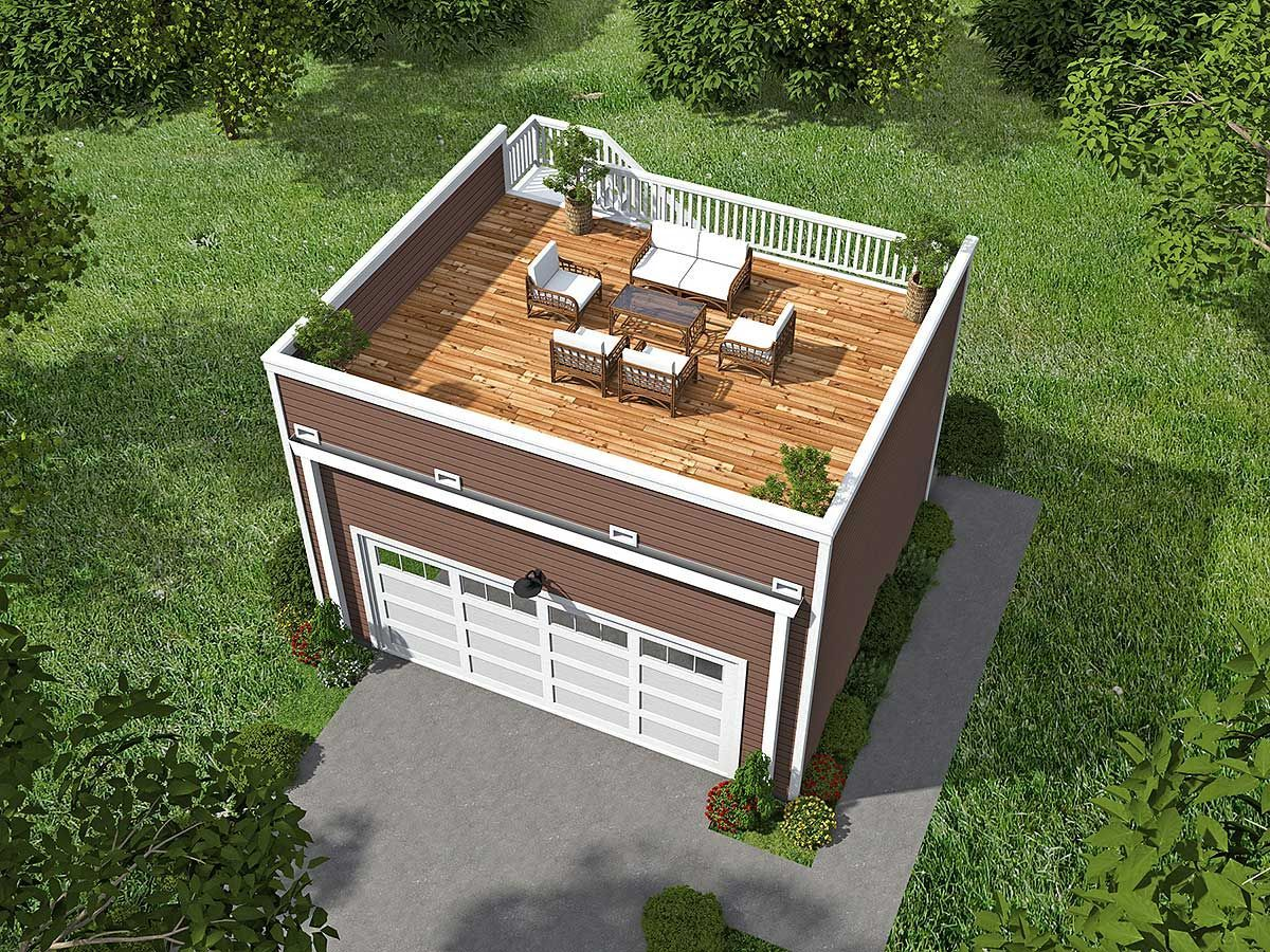68436VR: Garage with Roof Top Deck