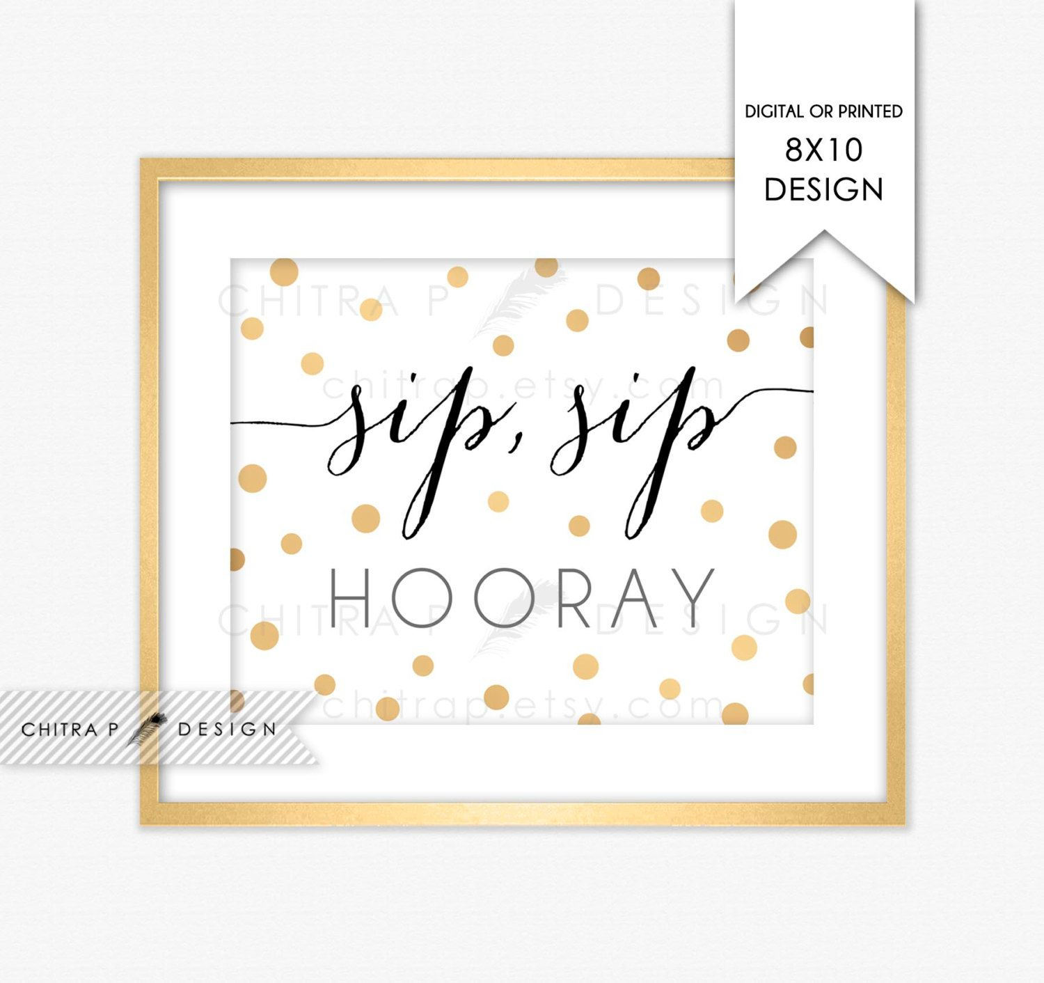 photograph regarding Sip Sip Hooray Printable known as Sip Sip Hooray Signal - Released or Printable, Pop Fizz Clink