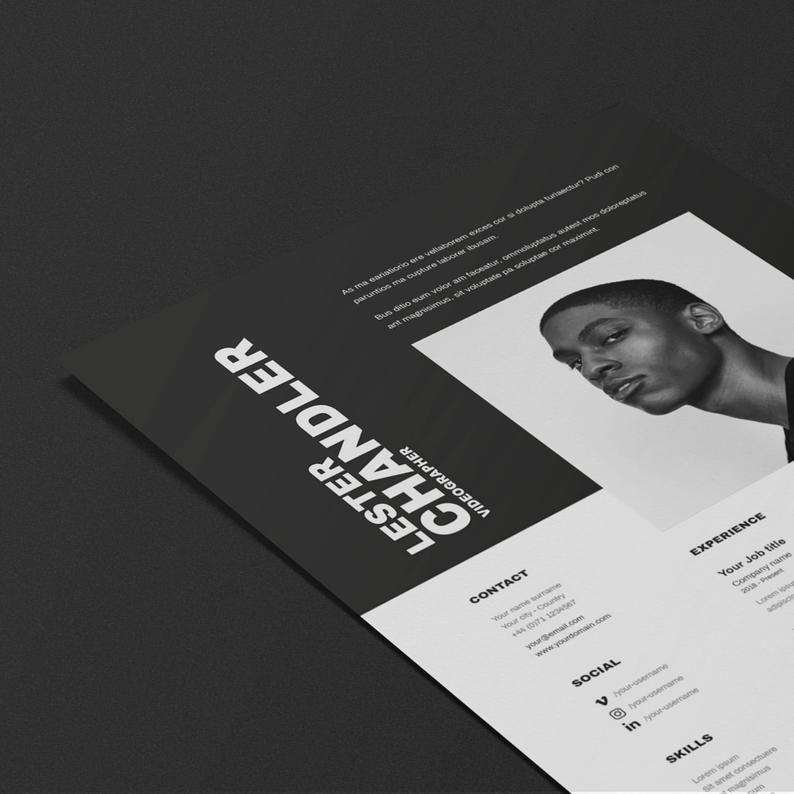 Lester cv resume template projektowanie
